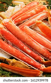 Snow crab legs on the plate