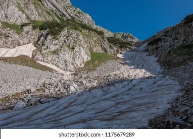 Snow in Durmitor - national park in Montenegro