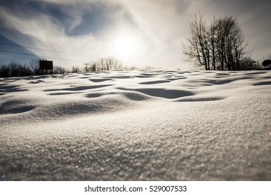Snow field Texture Background, Sunlight on snowdrift