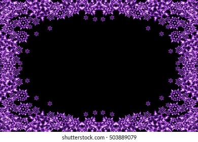 snow flakes background with the violet color