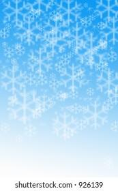 Snow Flakes on a blue sky 2