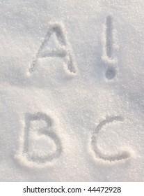 Snow font