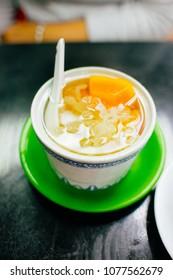 snow fungus dessert soup in Hong Kong.