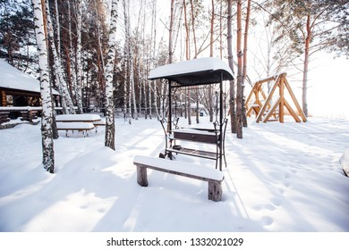 snow grill in the forest