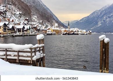 Snow in Hallstatt
