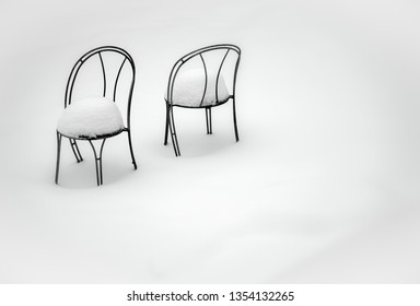 Snow has built up over time on the chairsleft there in a back yard & Chair Warmer Images Stock Photos u0026 Vectors | Shutterstock