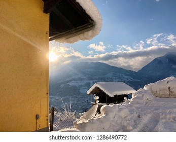 Snow hause in a sunny day