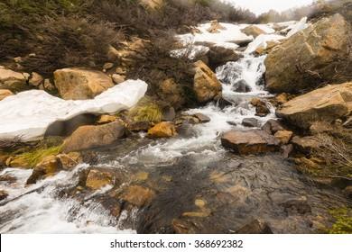 snow, ice and stream