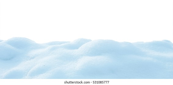 snow isolated on white background