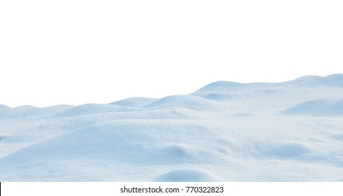 snow isolated on white background - Shutterstock ID 770322823