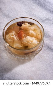 snow jelly fungus chinese traditional medicine with red dates derrsert