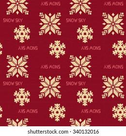 Snow knit pattern