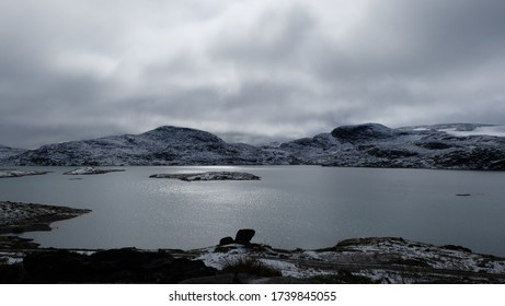 snow landscape in Jotunheimen, Norway
