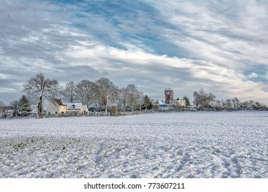 Snow Landscape; Shropshire, United Kingdom