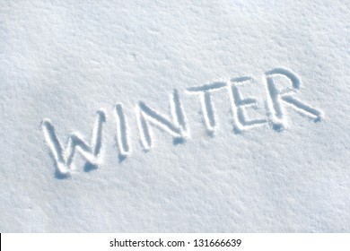 snow with lettering winter/winter/snow