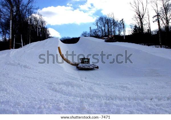 snow maker on ski hill