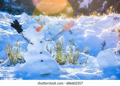 Snow man at Perisher, Australia