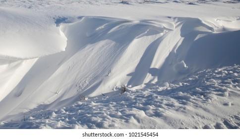 Snow melt nature