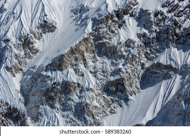 Snow mountain background