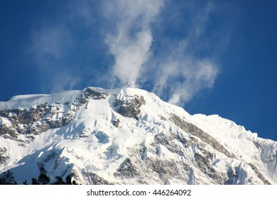 Snow Mountain in Nepal