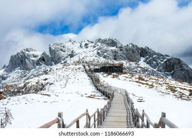 Snow Mountain scenic area in Yunnan Province, China.