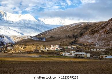 Snow mountain in Tsomoriri Ladakh