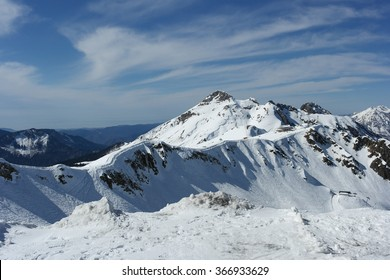Snow mountain, winter landscape, Sochi, Russia