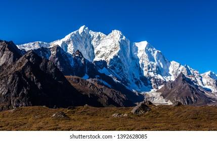 snow mountains in Himalaya of Tibet