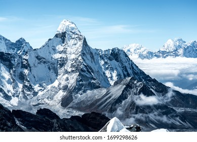 snow mountains in the Himalayas of Nepal.