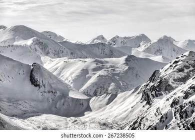 Snow in the mountains - Tatras - Poland