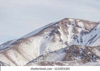 snow mountais landscape view
