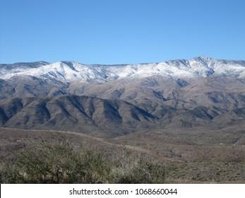 Snow on Arizona foothills 2