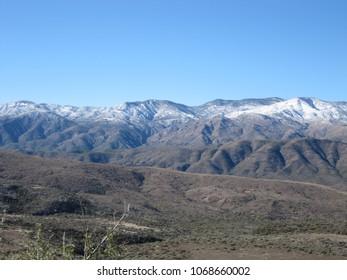 Snow on Arizona foothills