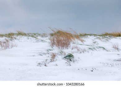 Snow on the beach in Dublin - Ireland