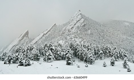 Snow On The Flatirons, Boulder Colorado