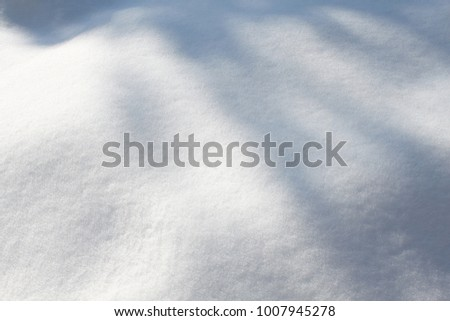 Snow on the ground