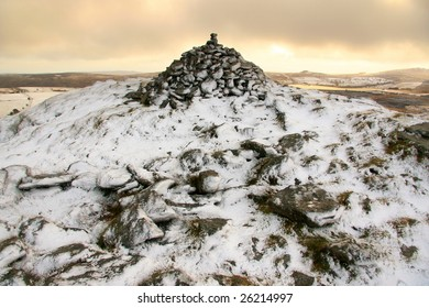 snow on a hill top