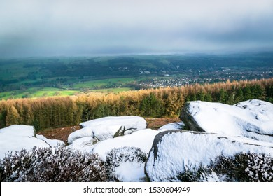 Snow on Ilkley moor, Yorkshire