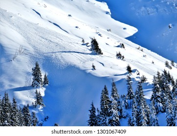 snow on the mountainside