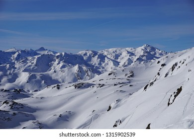 snow on the summits of Zillertal, Austria