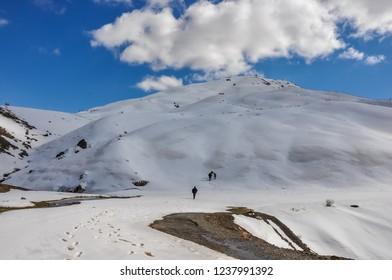 Snow on Top of Hassan Bak Mountain in  Kurdistan Northern Iraq