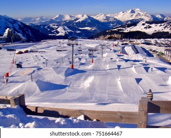 Snow park Avoriaz Savoy France