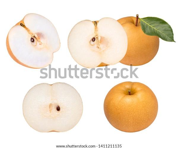 Snow Pear Fengsui Pear On White Food And Drink Objects Stock Image
