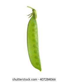 Snow peas isolated on white background.