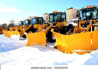 Snow removal car standby