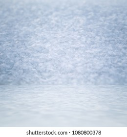 snow room, frozen background