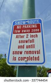 Snow Route No Parking