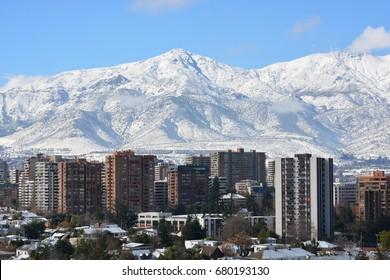 Snow in Santiago, Chile