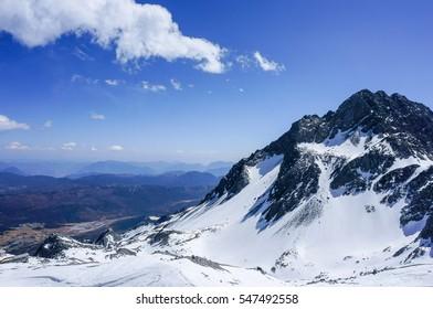 snow scenic mountain at Jade Dragon snow mountain ,Lijiang,China