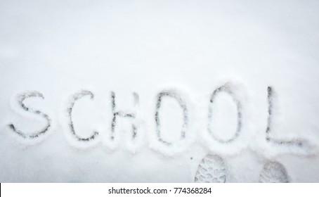 Snow school in winter